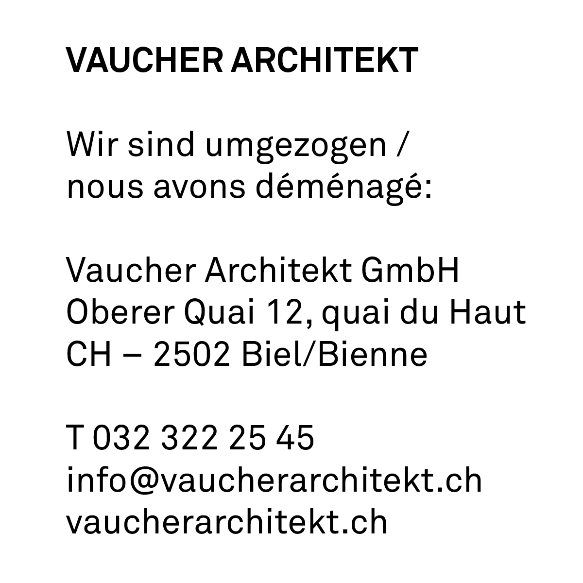 VAUCHER ARCHITEKT
